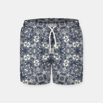 Luxury Geometric Ornate Mosaic Print Swim Shorts Bild der Miniatur