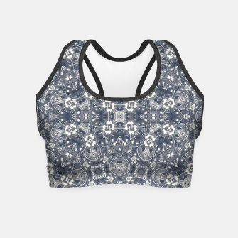 Luxury Geometric Ornate Mosaic Print Crop Top Bild der Miniatur