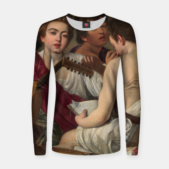 Thumbnail image of Caravaggio-The Musicians Women sweater, Live Heroes