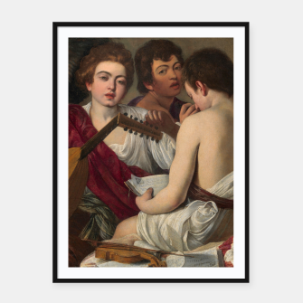 Miniatur Caravaggio-The Musicians Framed poster, Live Heroes