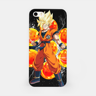 Miniatur Goku Super Saiyan iPhone Case, Live Heroes