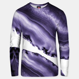 Thumbnail image of Ultra Violet Agate #3 #gem #decor #art  Unisex sweatshirt, Live Heroes