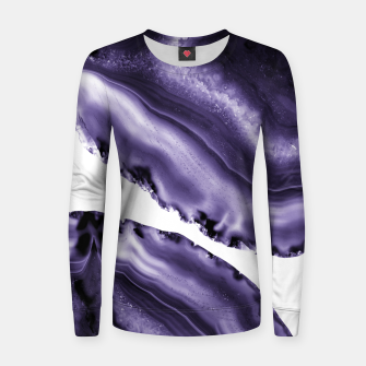 Ultra Violet Agate #3 #gem #decor #art  Frauen sweatshirt thumbnail image