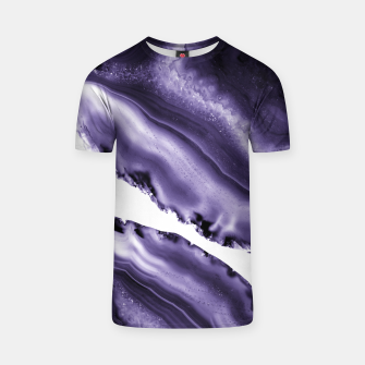 Thumbnail image of Ultra Violet Agate #3 #gem #decor #art  T-Shirt, Live Heroes