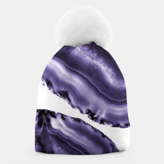 Ultra Violet Agate #3 #gem #decor #art  Mütze thumbnail image