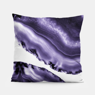 Thumbnail image of Ultra Violet Agate #3 #gem #decor #art  Kissen, Live Heroes