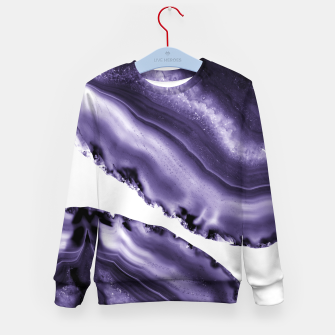 Ultra Violet Agate #3 #gem #decor #art  Kindersweatshirt thumbnail image