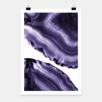 Ultra Violet Agate #3 #gem #decor #art  Plakat thumbnail image