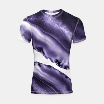 Thumbnail image of Ultra Violet Agate #3 #gem #decor #art  Shortsleeve rashguard, Live Heroes