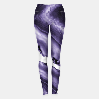Ultra Violet Agate #3 #gem #decor #art  Leggings thumbnail image