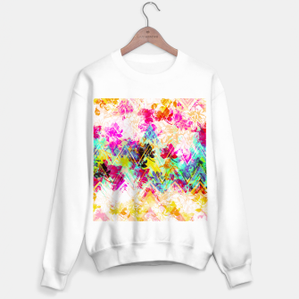 Thumbnail image of Spring Floral with geometric Sudadera regular, Live Heroes