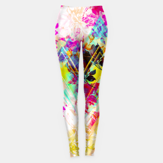 Miniatur Spring Floral with geometric Leggings, Live Heroes