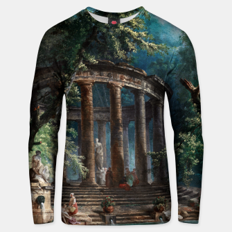 Thumbnail image of The Bathing Pool by Hubert Robert 2nd Edition Unisex sweater, Live Heroes