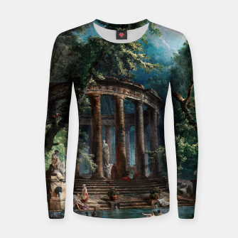Thumbnail image of The Bathing Pool by Hubert Robert 2nd Edition Women sweater, Live Heroes