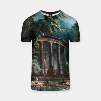 Thumbnail image of The Bathing Pool by Hubert Robert 2nd Edition T-shirt, Live Heroes