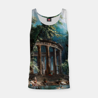 Thumbnail image of The Bathing Pool by Hubert Robert 2nd Edition Tank Top, Live Heroes