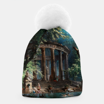 Thumbnail image of The Bathing Pool by Hubert Robert 2nd Edition Beanie, Live Heroes