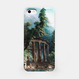 Thumbnail image of The Bathing Pool by Hubert Robert 2nd Edition iPhone Case, Live Heroes