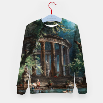 Thumbnail image of The Bathing Pool by Hubert Robert 2nd Edition Kid's sweater, Live Heroes