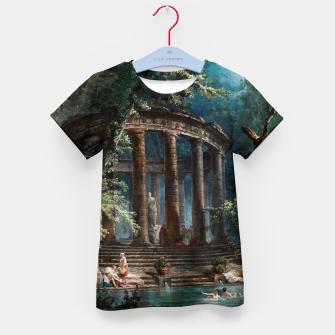 Thumbnail image of The Bathing Pool by Hubert Robert 2nd Edition Kid's t-shirt, Live Heroes