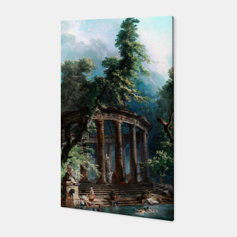 Thumbnail image of The Bathing Pool by Hubert Robert 2nd Edition Canvas, Live Heroes