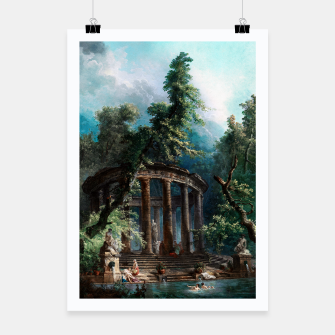 Thumbnail image of The Bathing Pool by Hubert Robert 2nd Edition Poster, Live Heroes