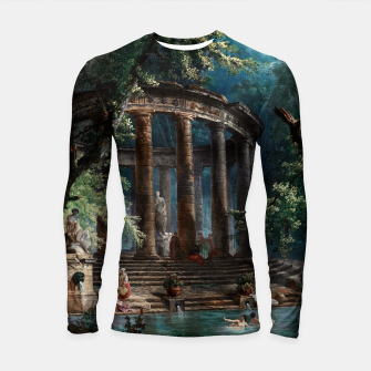 Thumbnail image of The Bathing Pool by Hubert Robert 2nd Edition Longsleeve rashguard , Live Heroes