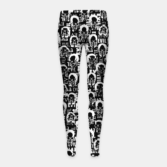 Miniatur Pure Evil Girl's leggings, Live Heroes