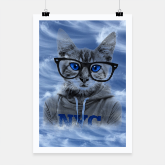 Miniaturka NY Cat and Blue Sky Poster, Live Heroes