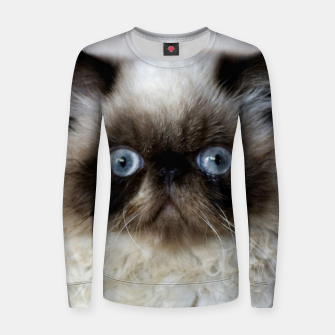 Thumbnail image of Funny Cat Women sweater, Live Heroes