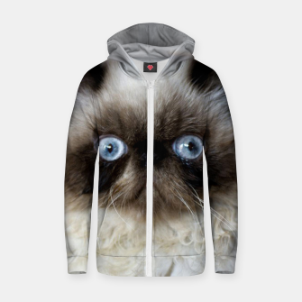 Thumbnail image of Funny Cat Zip up hoodie, Live Heroes