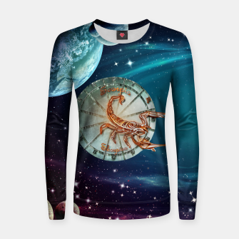 Thumbnail image of Scorpio and Planets Women sweater, Live Heroes