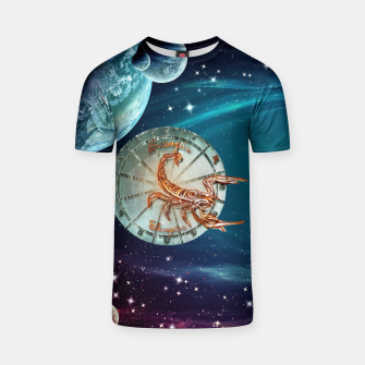 Thumbnail image of Scorpio and Planets T-shirt, Live Heroes