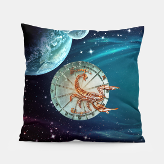 Thumbnail image of Scorpio and Planets Pillow, Live Heroes
