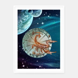 Thumbnail image of Scorpio and Planets Framed poster, Live Heroes