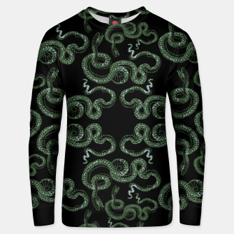 Thumbnail image of Green snakes Unisex sweater, Live Heroes