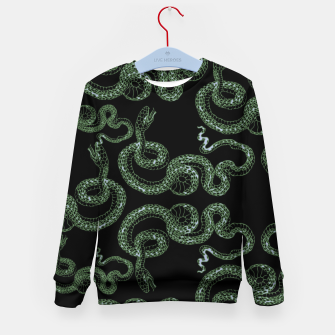 Thumbnail image of Green snakes Kid's sweater, Live Heroes