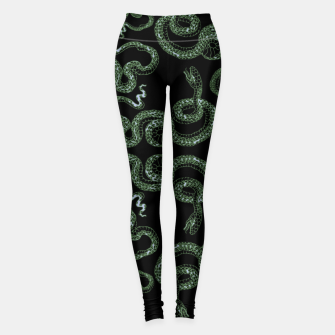Thumbnail image of Green snakes Leggings, Live Heroes