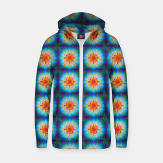 Thumbnail image of Sunflower Pattern Zip up hoodie, Live Heroes