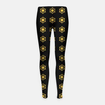 Communication Wealth Amulet Pattern Girl's leggings thumbnail image