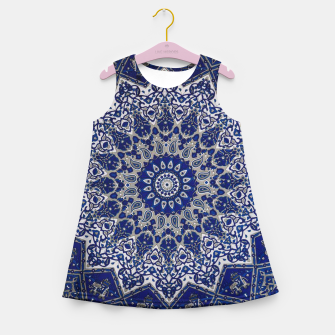 Andalusia Traditional Moroccan Mandala Alhambra Girl's summer dress obraz miniatury