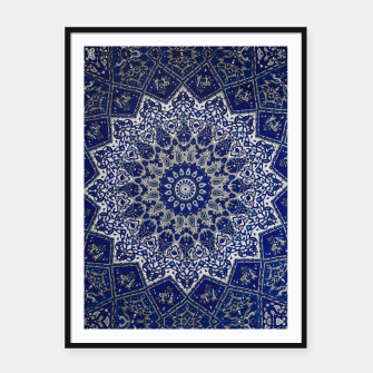 Andalusia Traditional Moroccan Mandala Alhambra Framed poster obraz miniatury