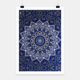 Andalusia Traditional Moroccan Mandala Alhambra Poster obraz miniatury