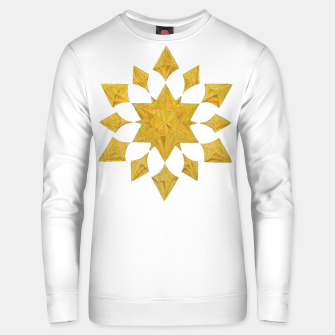 Thumbnail image of Communication Wealth Amulet on white Unisex sweater, Live Heroes