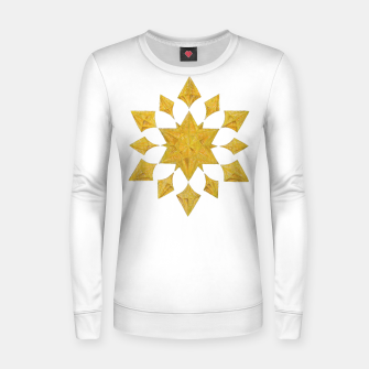Thumbnail image of Communication Wealth Amulet on white Women sweater, Live Heroes