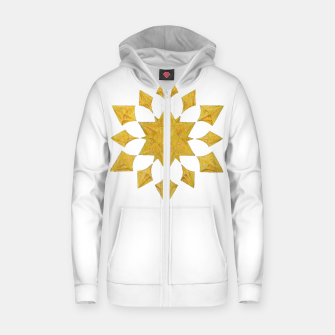 Thumbnail image of Communication Wealth Amulet on white Zip up hoodie, Live Heroes