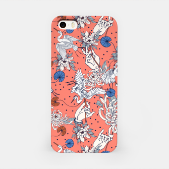 Thumbnail image of Flowered Asian illustration Carcasa por Iphone, Live Heroes