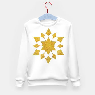 Thumbnail image of Communication Wealth Amulet on white Kid's sweater, Live Heroes