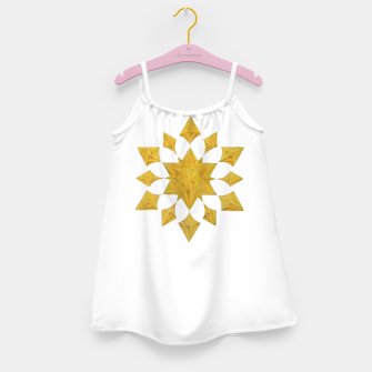 Thumbnail image of Communication Wealth Amulet on white Girl's dress, Live Heroes