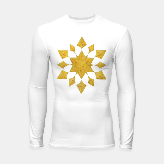 Thumbnail image of Communication Wealth Amulet on white Longsleeve rashguard , Live Heroes